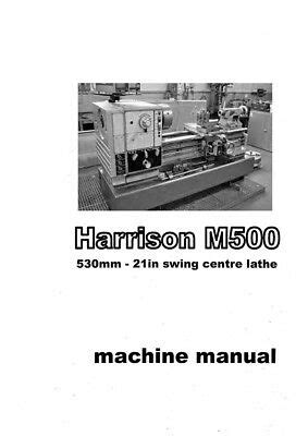 Harrison M300 Lathe Manual Amp Parts Lists 65 Pages In