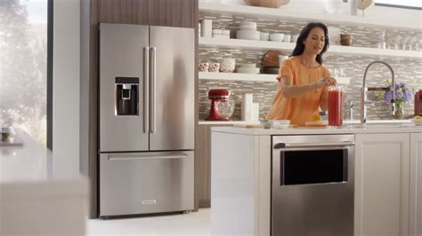 counter depth french door refrigerator kitchenaid youtube
