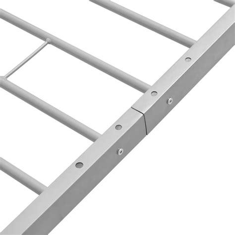 einzelbett mit matratze vidaxl einzelbett mit memory matratze metall grau 90x200