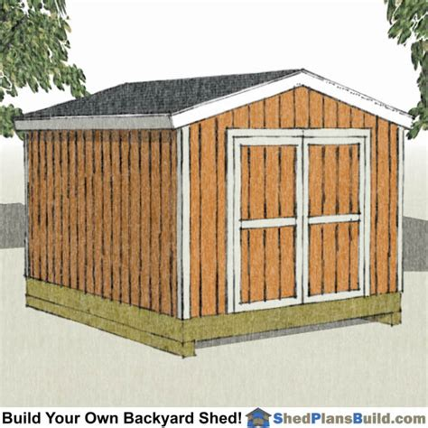 How To Build A 10 X 12 Shed by 10x12 Shed Plans