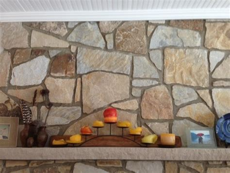 Fireplace Tile Grout by Grout Color On Fireplace Wall