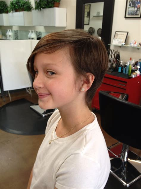 little seven year old hair cut cool pixie cut for a tween hairstyles short pixie