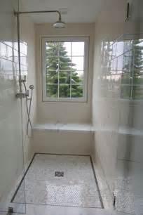 ceramic shower surround transitional bathroom