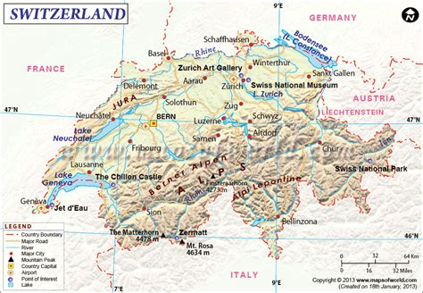 major cities in switzerland map geography climb the friendly skies of switzerland