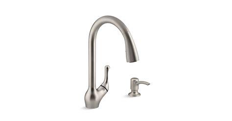 kohler barossa kitchen faucet k r78035 sd barossa 174 touchless pull kitchen faucet