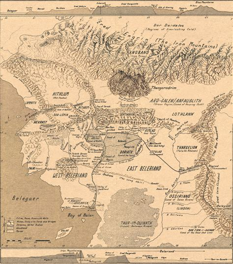 middle earth map beleriand and the maps n such