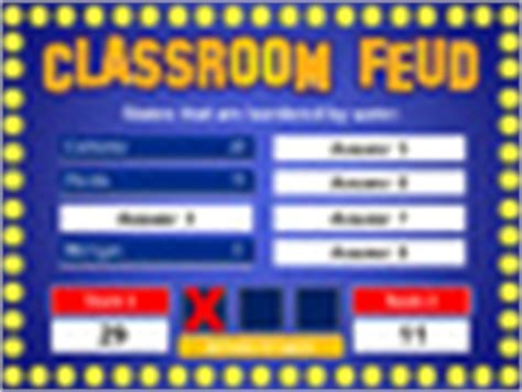 Classroom Feud Powerpoint T By Best Teacher Resources Classroom Family Feud