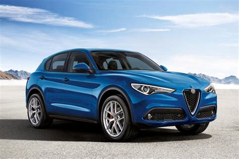 alfa romeo blue alfa romeo stelvio revealed pictures auto express