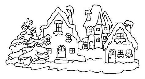 coloring pages winter house case disegni per bambini da colorare