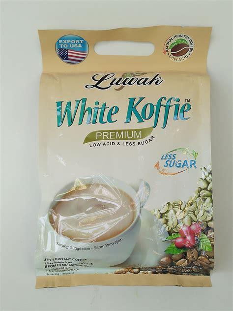 Sugar Kopi less sugar kopi luwak white koffie 3 in 1 low acid 20 ct