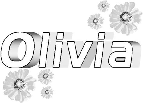 coloring pages with the name olivia the name olivia colouring pages