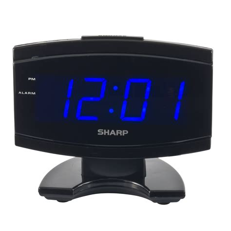 digital electric alarm clock blue led large display sharp new free shipping ebay