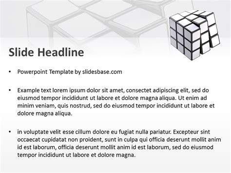 White Rubik S Cube Powerpoint Template Slidesbase Blank Powerpoint Templates