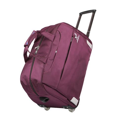 Travel Bag Hypervenon 8 trolley travel bag luggage rolling duffle bags waterproof oxford suitcase wheels carry on
