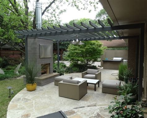 Modern Living Spaces Beautiful Modern Finish For An Outdoor Isokern Fireplace