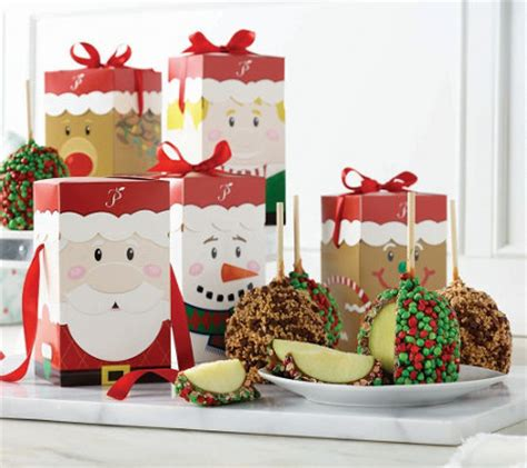 qvc christmas packaging mrs prindables set of 10 large apples with gift boxes m50111 qvc