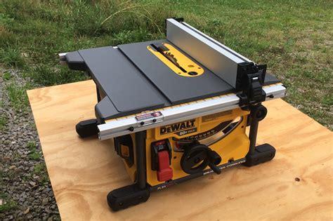 dewalt portable table saw stand dewalt flexvolt table saw dcs7485t1 let er rip with 60
