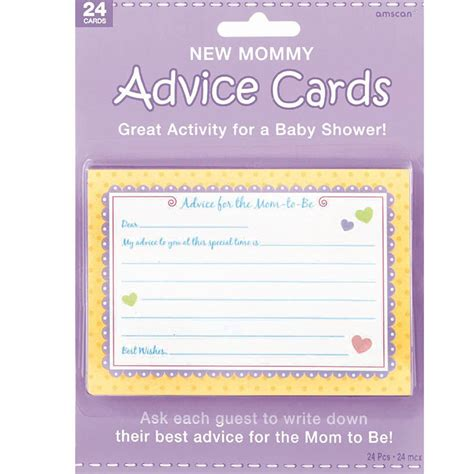 to be advice cards template new advice cards 24pc baby shower activity boy