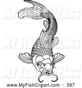 fish coloring page with scales fish scales clipart clipart suggest