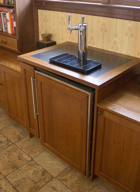 built in kegerator convert a freezer into built in kegerator fridge