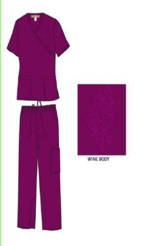 wine colored scrubs ebay