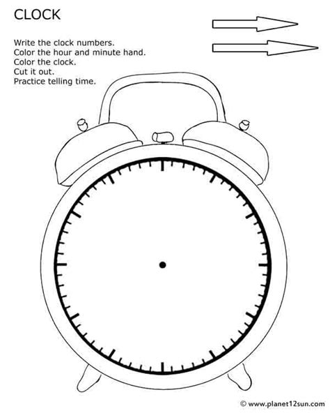 printable sun clock free printables for kids