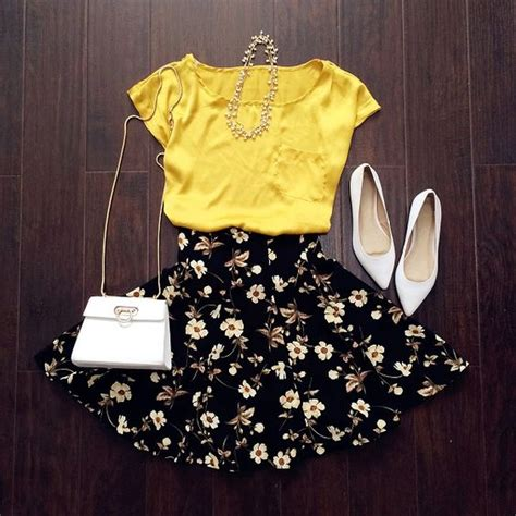 pintrist cute womans outfits floral skirts cute woman and skirts on pinterest