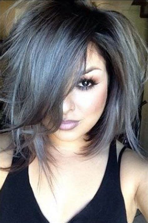 salt and pepper hair with lilac tips 1000 ideas about gray hair highlights on pinterest hair