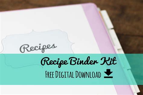 free recipe templates for binders erika brent zoo recipe binder kit free printable