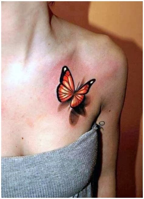 tattoo butterfly with shadow 3d butterfly rib tattoos designs