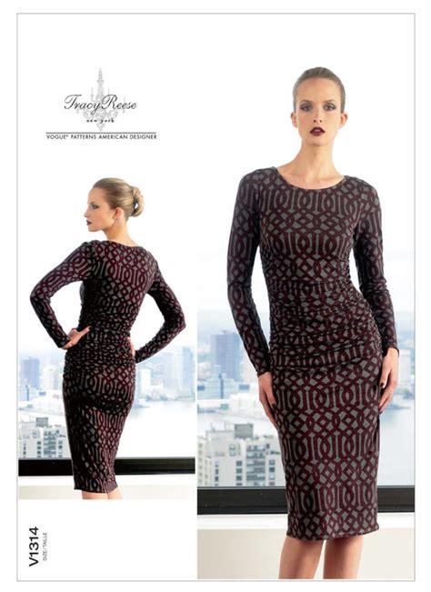 jersey dress pattern vogue v1314 misses ruched dress sewing pattern vogue patterns