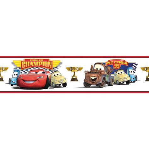 Piston Cup cars piston cup chion peel and stick border