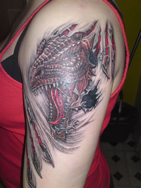 red dragon tattoo for shoulder