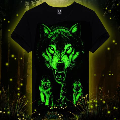 Tshirt Glowsind 4 wholesale summer brand clothing novelty mens tshirt homme 3d glow in the luminous t shirt