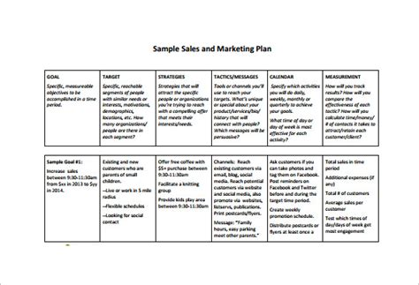 Sales And Marketing Plan Template Free by Sales Plan Template 26 Free Sle Exle Format