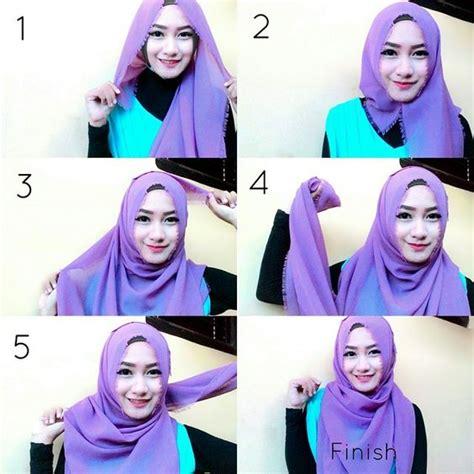 tutorial hijab segi empat untuk bentuk wajah bulat cara berhijab segi empat untuk wajah bulat yang praktis