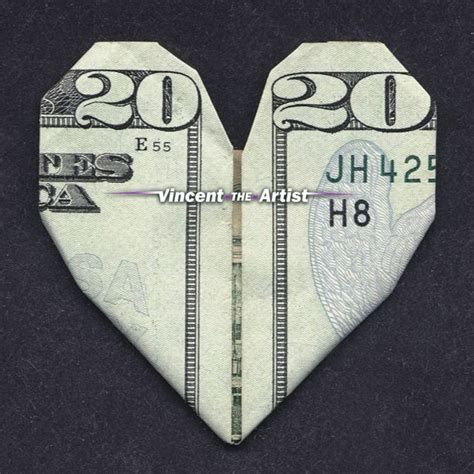 Origami 20 Dollar Bill - money origami made with 20 bill money dollar