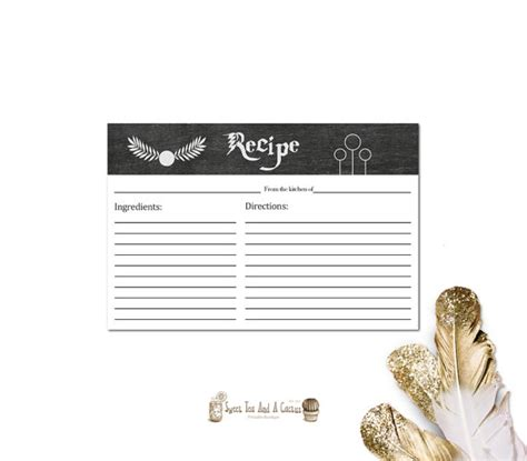 hp printable recipe cards kitchen gifts for the harry potter fanatic