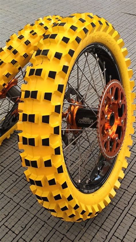colored dirt bike tires yellow pirellis moto related motocross forums
