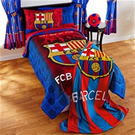 Fc Barcelona Bed Set Fc Barcelona Fcb Soccer Football 5pc Bedding Collection Comforter And Sheet