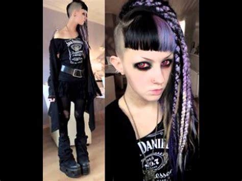 diy goth hairstyles gothic hairstyle dreadlocks youtube