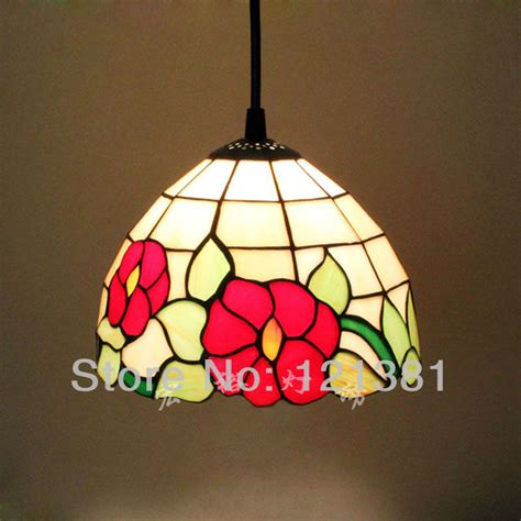 tiffany style hanging l red flowers tiffany style mini pendant l hanging lights