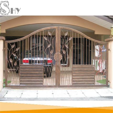 cheap indian house wrought iron steel gate