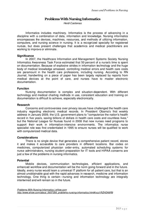 Resume Samples For Nurses by Issues And Problems In Nursing