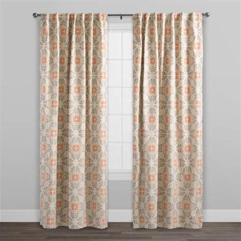 concealed tab top curtains orange tile cotton concealed tab top curtains set of 2