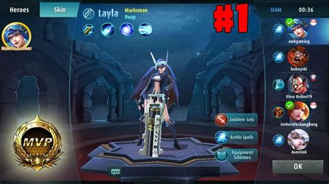 mobile legend character gameplay mobile legend 1 play layla mvp