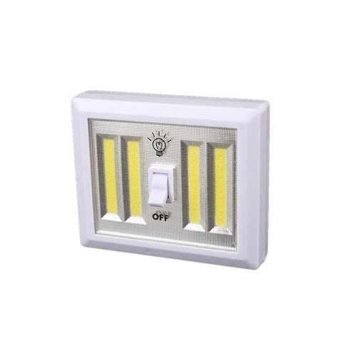 cabinet door operated light switch 3w cob led switch wall night light battery operated