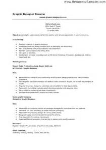 Graphic Designer Resume Objective Sle by Free Lance Graphic Design Resume