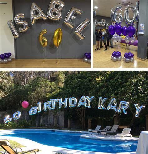 como decorar globos de numeros ideas para decorar tu celebraci 243 n con globos de letras y
