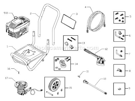 troy bilt pressure washer diagram troy bilt pressure washer model 020245 replacement parts